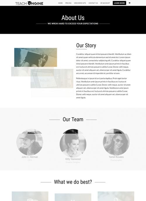 Page Layouts - TeachEngine